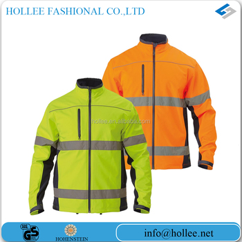 road safety softshell two high visibility reflective yellow jacket