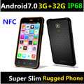 2018 Cheapest 5'' inch IP68 NFC 3G+32G Android7.0 waterproof phone with 3G+32G android7.0 slim waterproof smartphone rugged phon