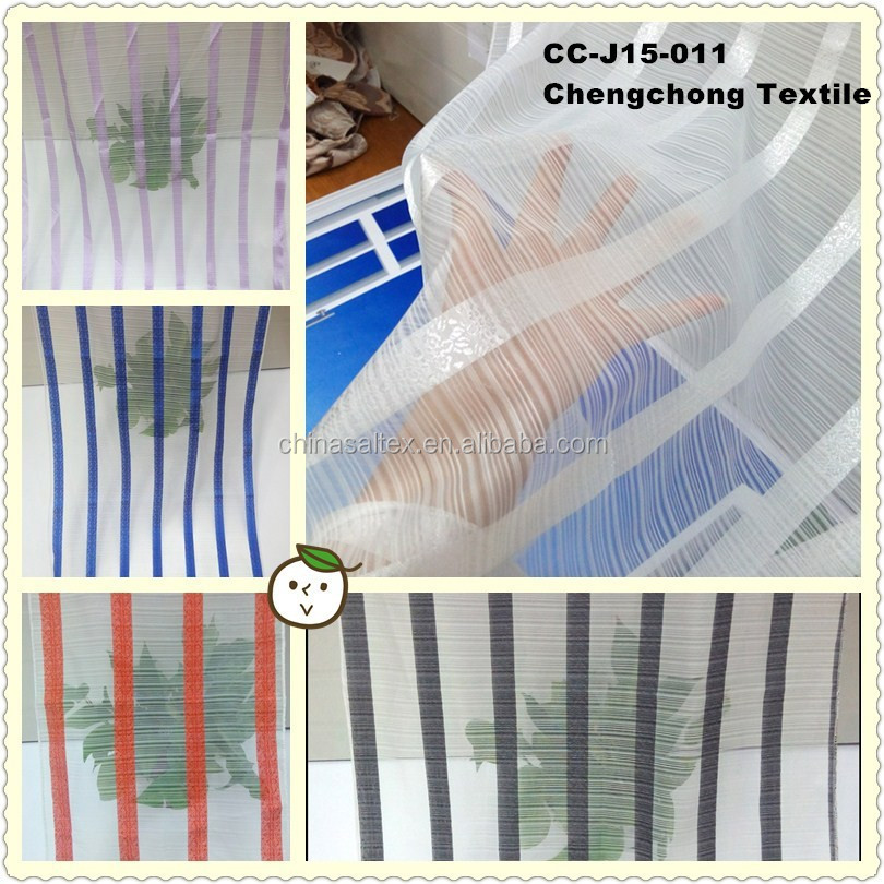 Factory Wholesale New Design Organza Jacquard Curtain Fabric