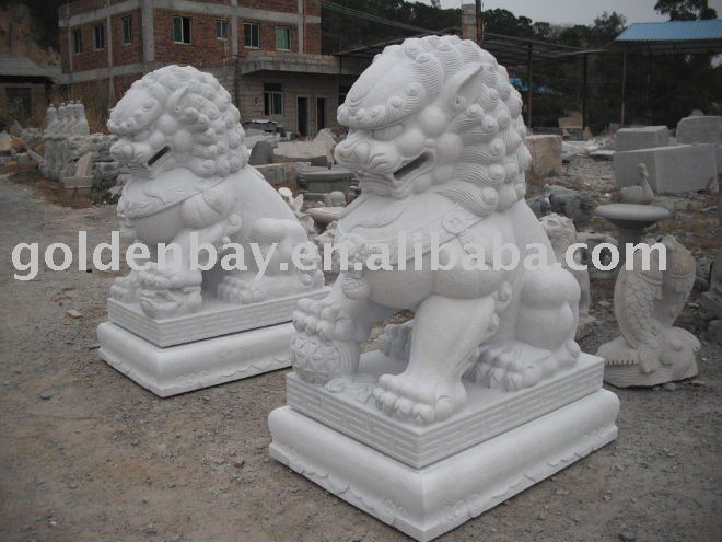 white marble lions life size lion statue