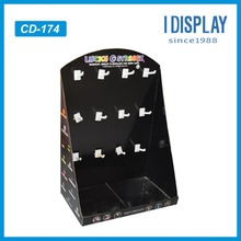 Guangdong manufacturer counter top display rack with pegs/plastic hooks