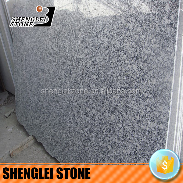 chinese spray white granite, ocean wave granite slab for countertop