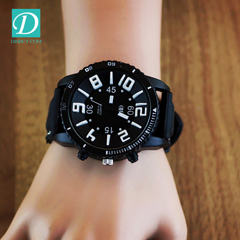 2016 couple Sport Quartz Watch With Leather Band women Watchs