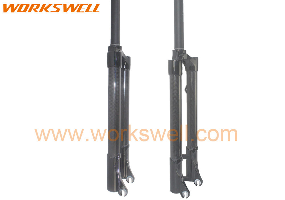 Workswell 26ER/27.5ER/29ER Carbon and Alloy Mountain Bicycle Bike carbon rigid Fork MTB