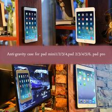 Selfie sticky suction anti gravity case for ipad2/3/4 nano magical anti gravity case for ipad2/3/4 tablet PC
