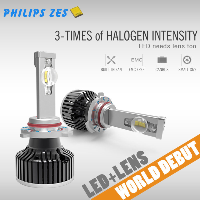 Small Size Real 60W h7 led car headlight kit with h1 h4 h8 h11 9005 hb3 9006 hb406