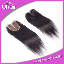 Large Order Free Shipping Natural Color Straight Middle Part Lace Closure brazilian Hair Closure