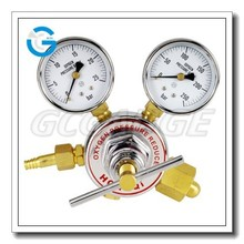 High quality bourdon tube oxygen regulator gauge
