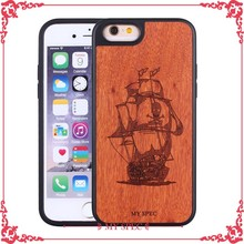 custom engarving cover wood back housing covers case for iphone 6s