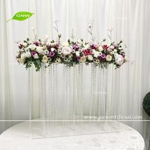 GNW CTRA-1705025 Crystal chain tall wedding flower centerpieces with acrylic stand