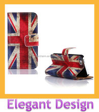 With England flag printed smartphone PU leather case for Iphone 5