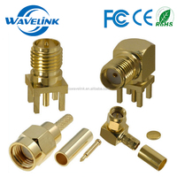 Low Loss Male Female SMA Jacket RF Coaxial Connector Socket Plug SMA Connector For Wire Module