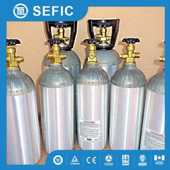 brand new159mm-10L-150bar 5L/10L/20L CO2 aluminum gas cylinder use for beverage price made in china quality