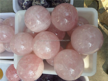 Beautiful and charming natural rock rose quartz crystal balls for sale