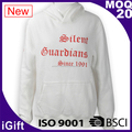 BSCI Factory Audit White Hoodie Sweatshirt Woman