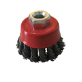 PEGATEC rust paiting cleaning welding burs removing industrial powerful twist knot steel wire brush