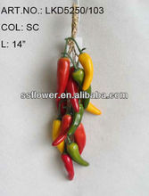 2014 Artificial Fruits Fake Vegetables 14 inch Artificial Chilli String