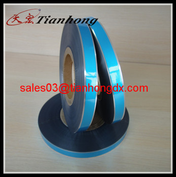 blue color free edge aluminium film package material spool free edge AL PET mylar for good insulation materials