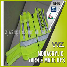 high visibility fire retardant modacrylic fabric for safety vest permanently flame retardant