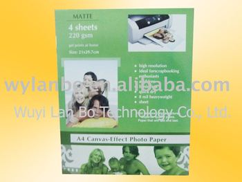 220g Embossed photo paper 210mm x 297mm (4 sheets)