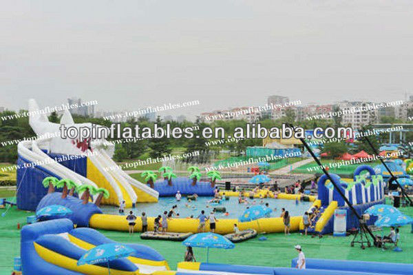 New Big Inflatable Pool Water Park, Water Playground