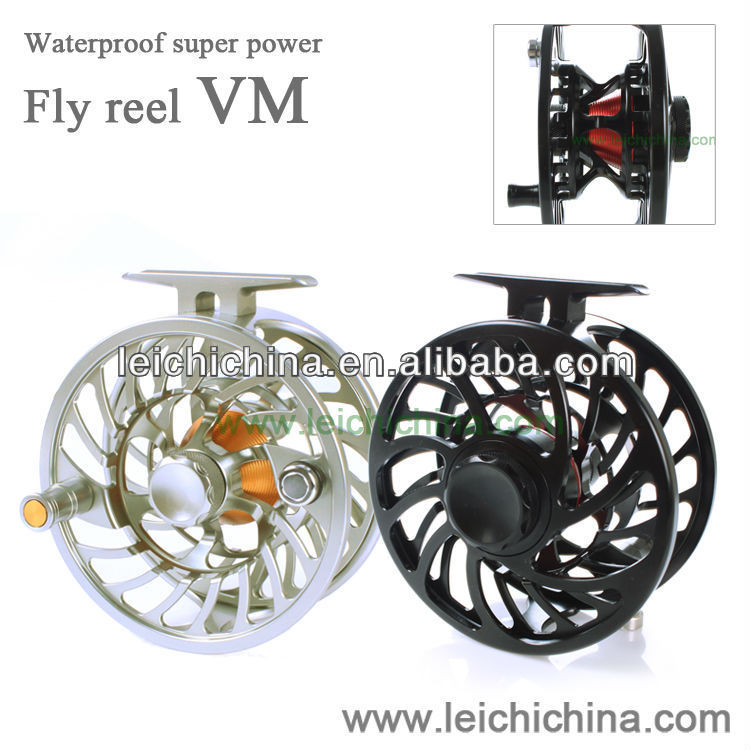 Top quality large line capability 100% waterproof cork drag Chinese CNC saltwater fly reel