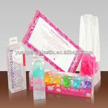 clear plastic gift box for bath gel