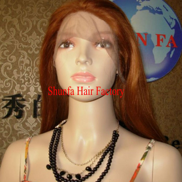 Brown blonde mix lace front wigs