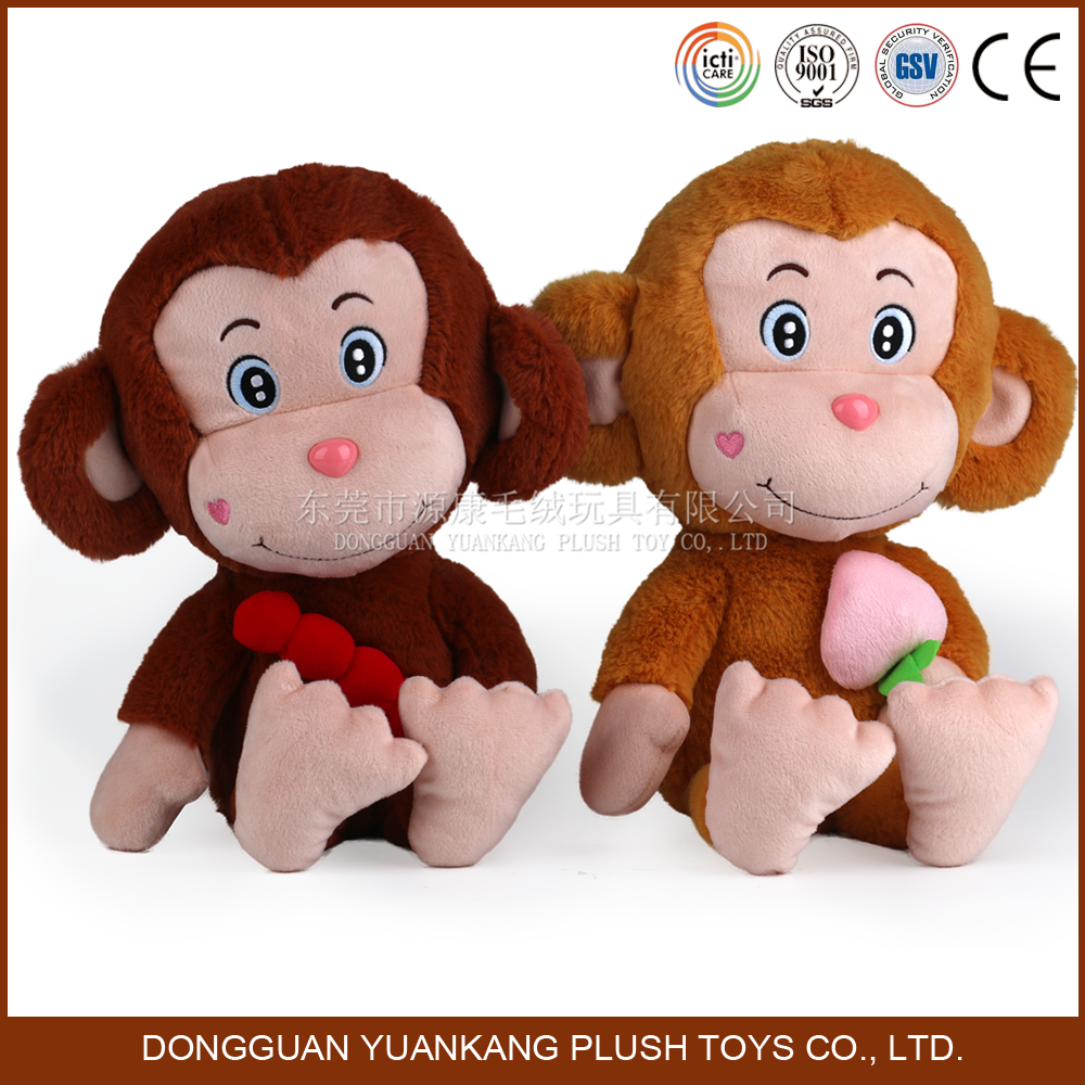 Good buddies soft plush brown greedy monkey