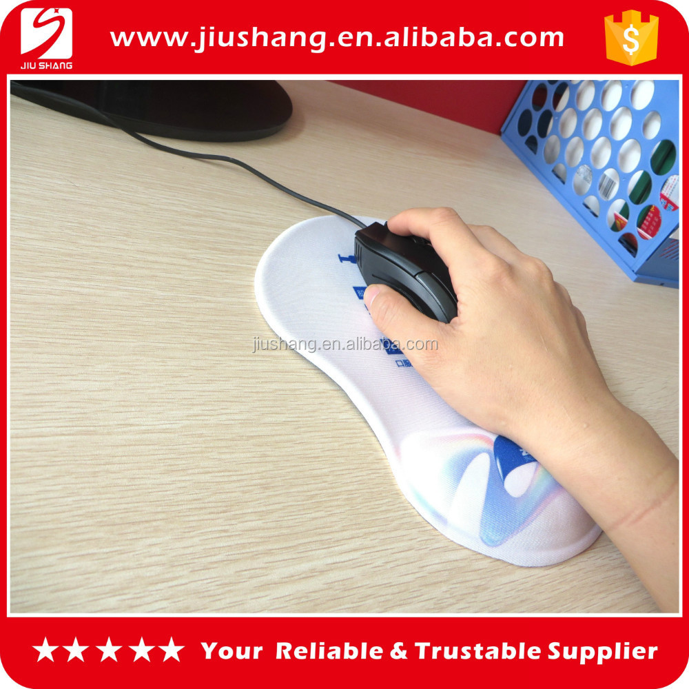 Rubber mouse pad with wrist rest, wrist rest mouse mat, rubber gel computer mouse pad