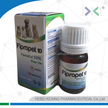 Fipronil drops 10% for dog and cat