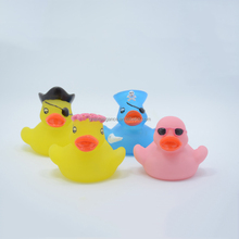 Eco-friendly Personalized LED Light Up Rubber Bath Duck Toys