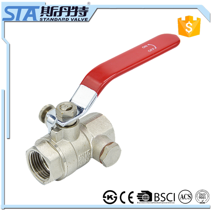 ART.1067 Wholesale fast shipping female npt threaded 1 2 inch brass forged ball valve cw617n with drain for water gas oil air