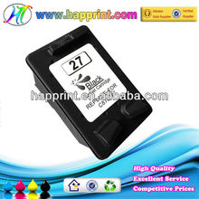 Factory direct supply the ink cartridge for HP 27 C8727A remaufactured inkjet cartridge for HP 8727A