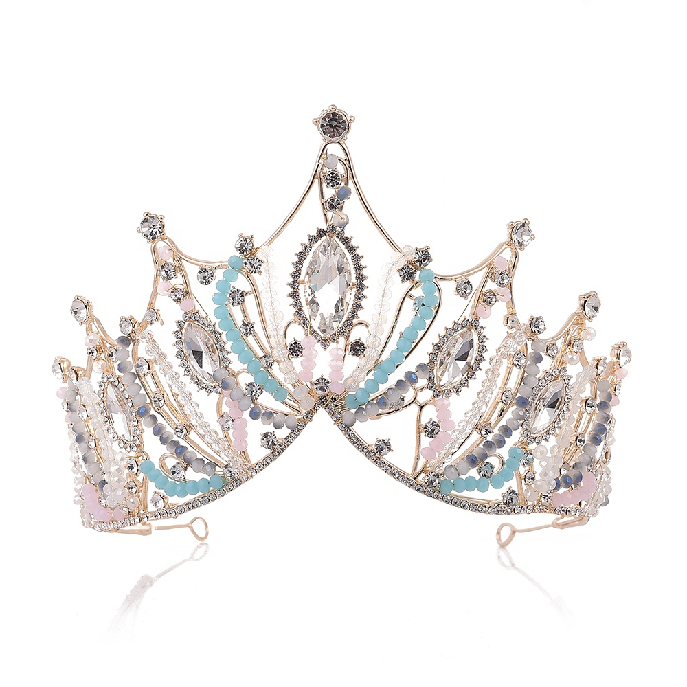 2019 New Tiaras De Novia <strong>Crown</strong> Custom <strong>Crown</strong> for Wedding Party Happy New Year and Birthday