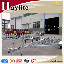 Galvanized rubber hydraulic boat trailer with rollers