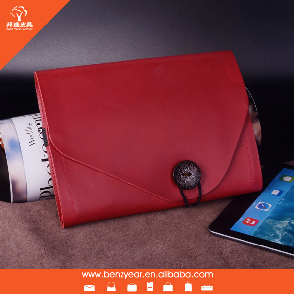 Newest Hot Selling Genuine Leather Case for iPad Air 2 Leather Cover