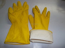 Latex Rubber Glove origainal yellow color chemical resistant household glive industrial rubber gloves work gloves