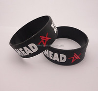 funny food grade black Excellent High quality wrist band/Promotional silicone wristband/Silicone bracelet