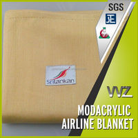 Modacrylic jacquard woven airline blanket travel blanket gift blanket with airline label Chinese manufacturer in Shaoxing