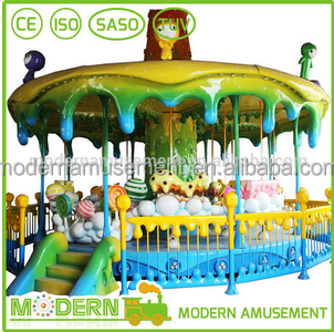 Wholesale center Amusement park equipment fairground musical carousel rides for kids
