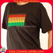 Korea EL Light-up Graphic Equalizer T shirt China manufacturer
