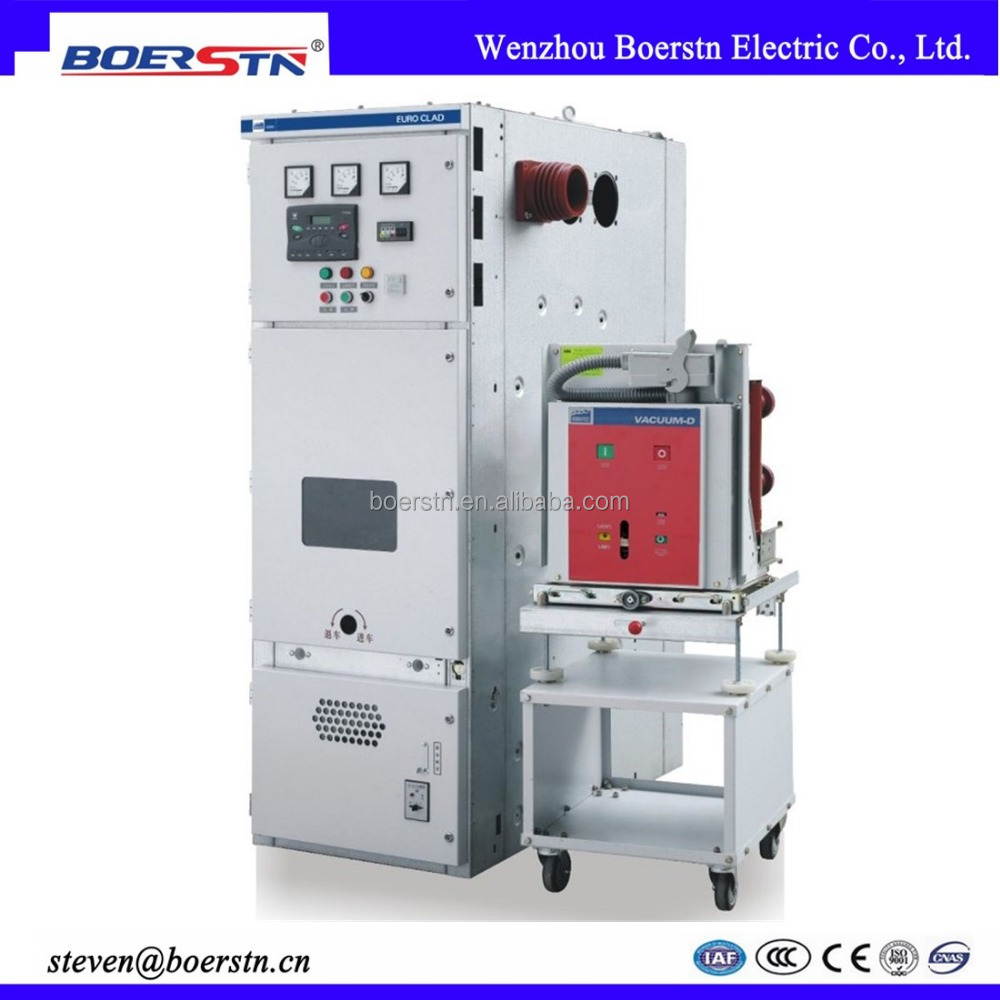 Indoor Metal Clad Electrical Cubicle Switchgear with Handcart Vacuum Circuit Breaker
