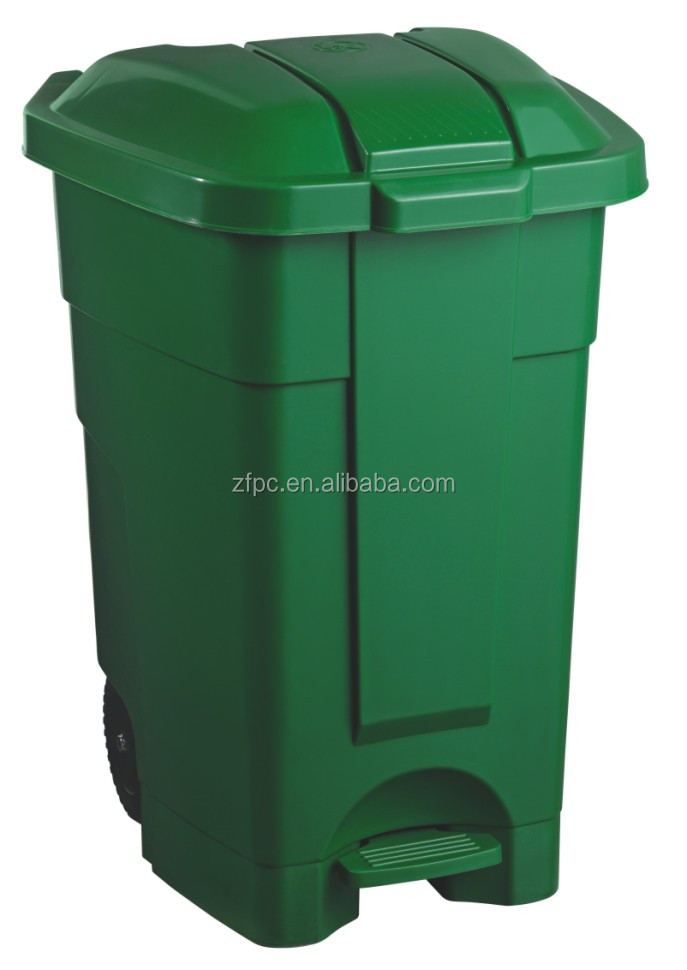 70L heavy duty plastic dustbin with pedal