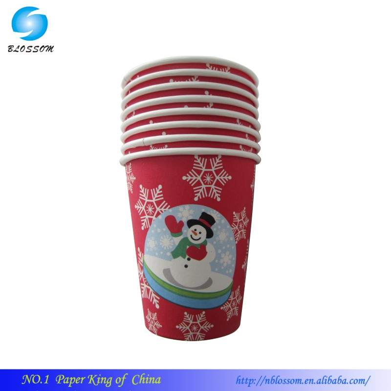 2016disposable cheap paper cup disposable paper tea cup shaped 9 OZ Best Selling paper cup dispenser