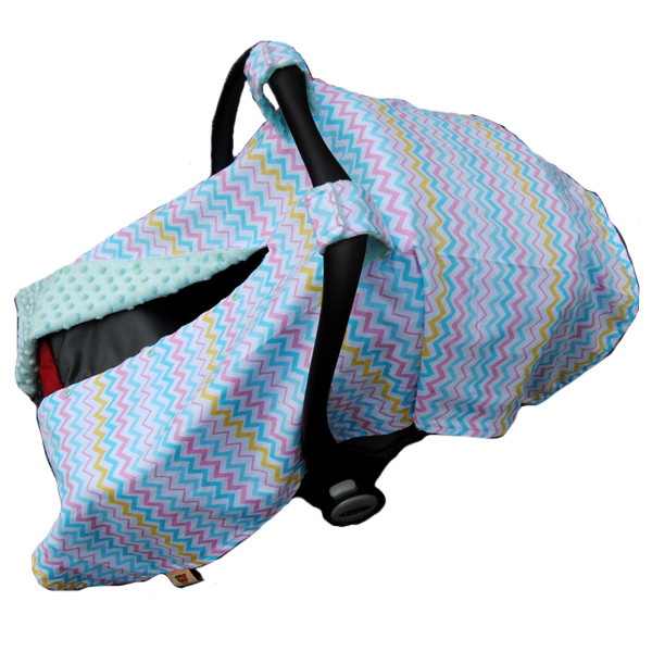 World Class Colorful Chevron Patterns Super Soft Luxurious Cotton Baby Car Seat Cover