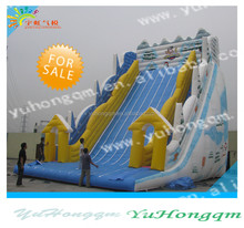 china top quality giant commercial use inflatables dry water snow winter slides for adults and kids for fun for sale