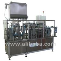 Ice cream filling and sealing line