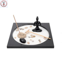 Factory Custom made best home decoration gift polyresin resin zen garden