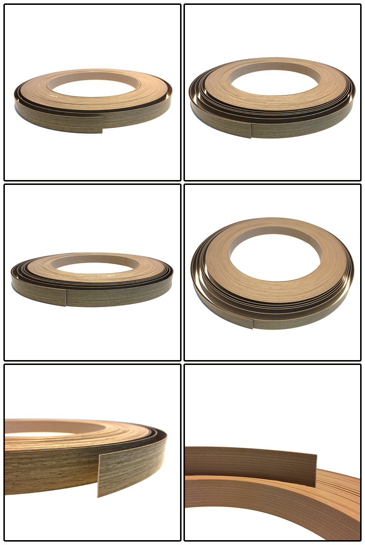 China manufacturer pvc plastic laminated edge strips for furniture accessories